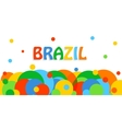 Brazil travel background for tourist banner vector image vector image
