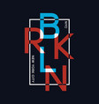 brooklyn new york t-shirt design with overlay and vector image vector image