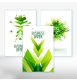 Business Abstract Brochure design set vector image