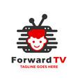 children television logo vector image