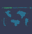 chile argentina brazil venezuela and peru vector image