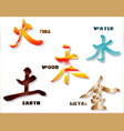 chinese element symbols vector image vector image