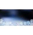 christmas a background with snowflakes vector image vector image