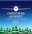 christmas journey flat vector image