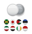 composed round badges with flags vector image vector image