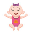 cute baby cartoon vector image