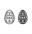 easter egg line and glyph icon easter vector image