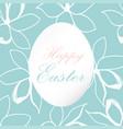 easter floral frame vector image