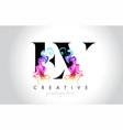 ev vibrant creative leter logo design with vector image vector image