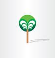 fantasy tree stylized design vector image vector image