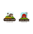 farm logo or symbol agriculture food concept vector image vector image