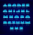 fingerprint scanner alphabet vector image