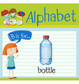 Flashcard letter B is for bottle vector image vector image