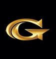golden gc monogram initial logo vector image vector image