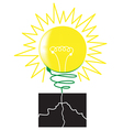 Green lamp concept vector image