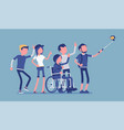 group selfie and young people vector image vector image