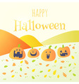 happy halloween happy pumpkin card vector image