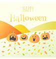 happy halloween pumpkin card vector image vector image