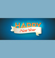 happy new year glowing retro light bulbs and text vector image vector image