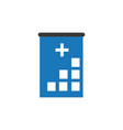 hospital icon cross building human medical vector image