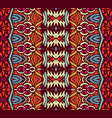 indian striped textile design vector image
