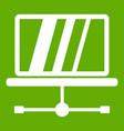 laptop icon green vector image vector image