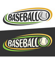 logos for baseball sport vector image vector image