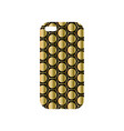 modern phone cover with fashionable geometric vector image vector image