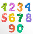 Numbers like dinosaurs vector image