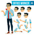 office worker face emotions various vector image vector image