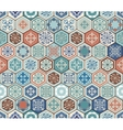 Oriental seamless pattern Realistic vector image