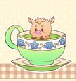 piggy cute little funny kawaii animal pet vector image vector image