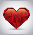 red love heart romantic passion emotion abstract vector image