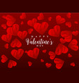 red scribble hearts background greeting design vector image vector image