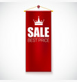 Sale Poster with vertical flag vector image vector image