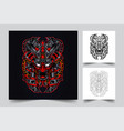 satan samurai artwork vector image vector image