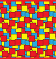 seamless - colored squares outlines vector image vector image