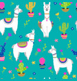 seamless pattern with llama vector image