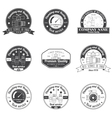 Set Vintage Plumbing Heating Services logo labels vector image vector image