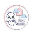 spring bird logo cartoon vector image