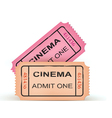 two cinema tickets vector image