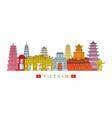 vietnam architecture landmarks skyline vector image vector image