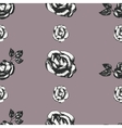 Vintage black and white rose pattern vector image