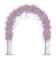 wedding arch vector image vector image