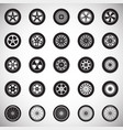 wheel icons set on white background for graphic vector image