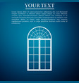 window icon isolated on blue background vector image