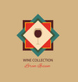 wine collection logotype made in isolated vector image