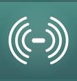 wireless network symbol wifi signal icon sound vector image