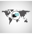 world map icon vector image vector image