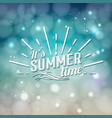 its summer time typographic design vector image
